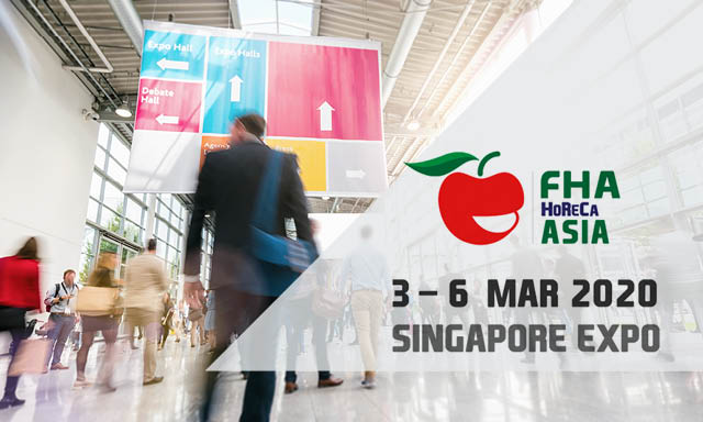 Join us at the FHA in Singapore, Asia 3rd–6th  March 2020